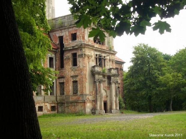 Chocianów pałac z XVIII w