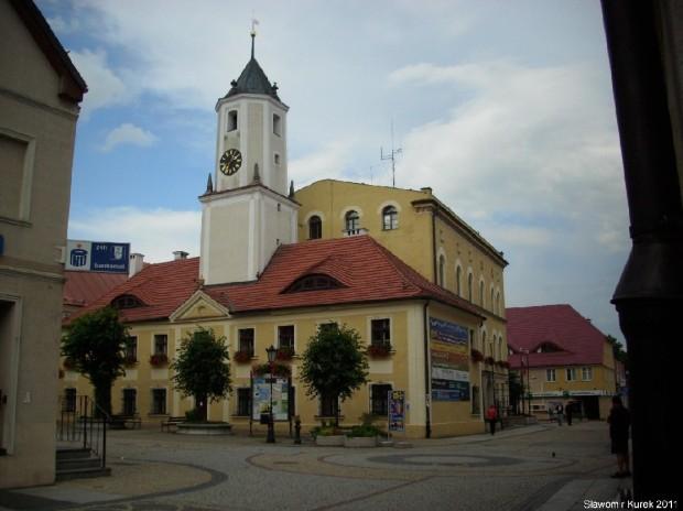 Rynek i ratusz w Polkowicach