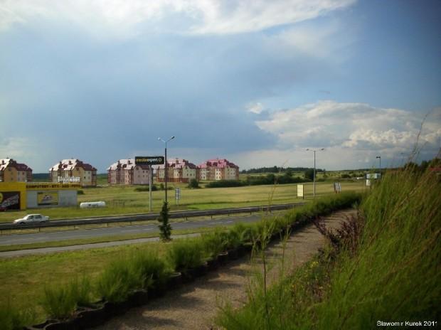 panorama w stronę nowego osiedla