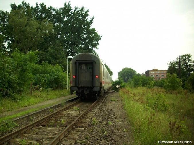 IC Wawel w Iłowej - światła końca pociągu