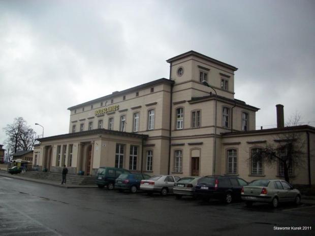 Budynek dworca w Bolesławcu