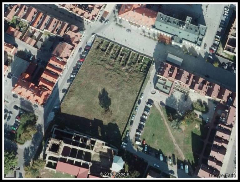 Głogów - plac Solny - Google Earth