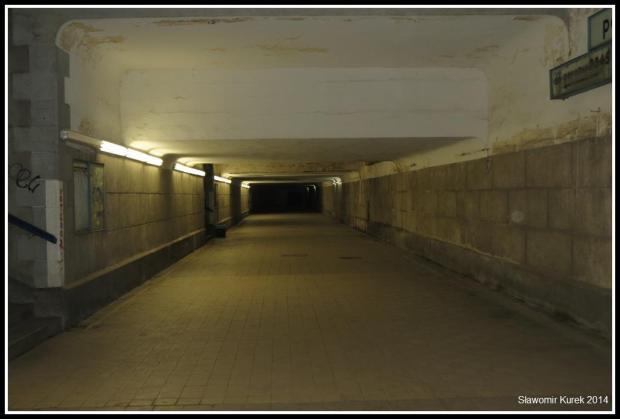 Żagań - tunel pod peronami