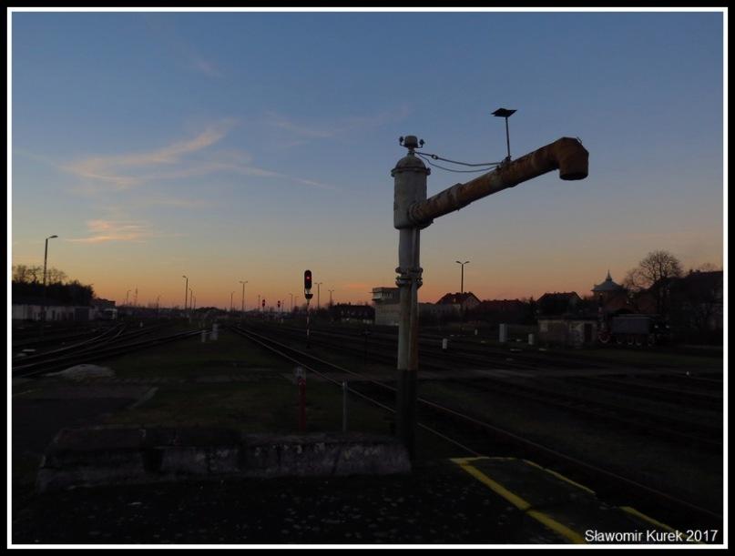 Żagań - stacja w grudniu 1
