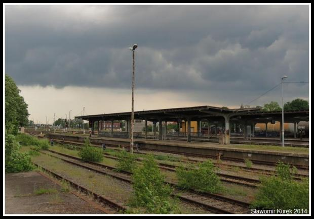 Żagań - perony i torowiska 2