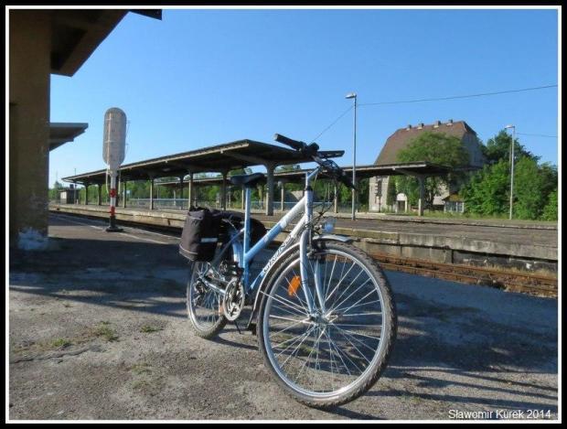 Żagań - rower na stacji