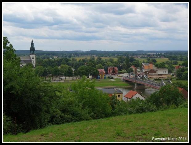 Krosno Odrzańskie - panorama, most