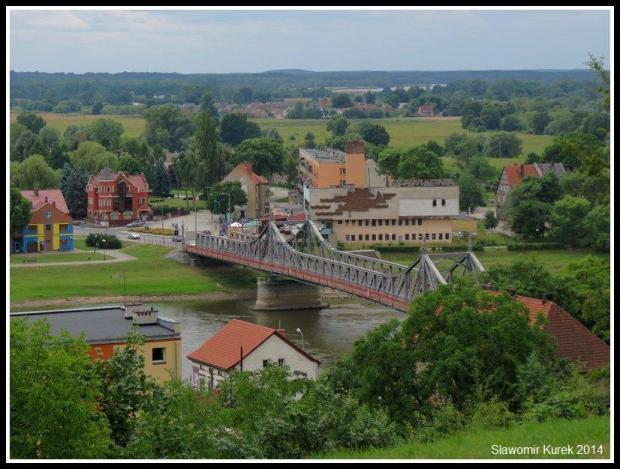 Krosno Odrzańskie - panorama, most 2