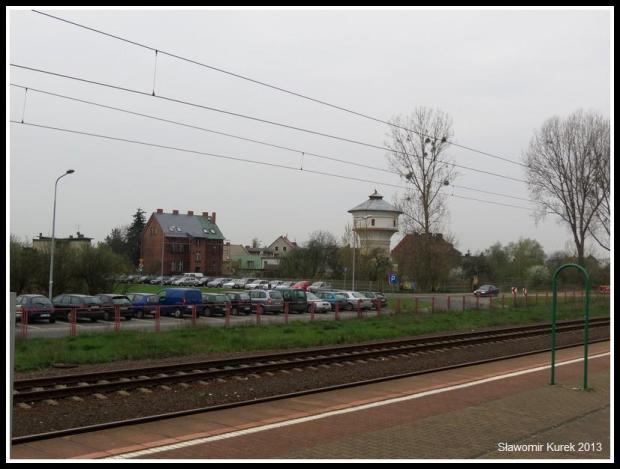 Opalenica - miasto z okna pociągu