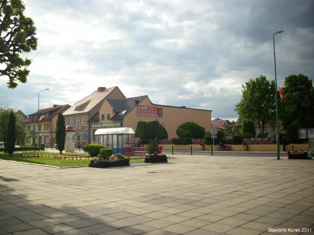 Kargowa Rynek i główna droga DK32